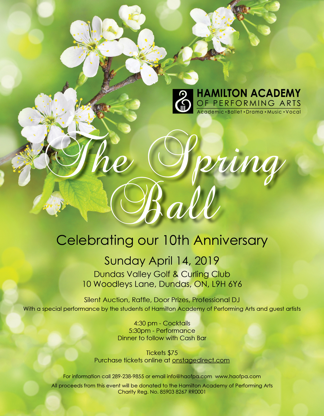 Spring Ball Poster - Hamilton Academy of Performing Arts