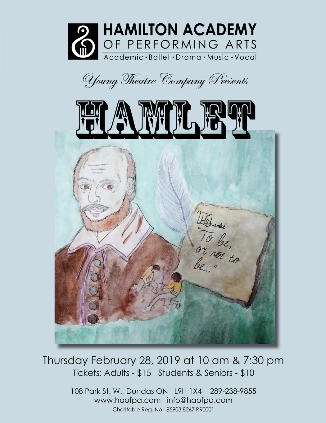 Hamlet Performance Poster